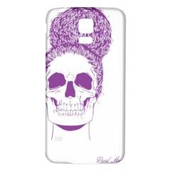 Purple Skull Bun Up Samsung Galaxy S5 Back Case (white)