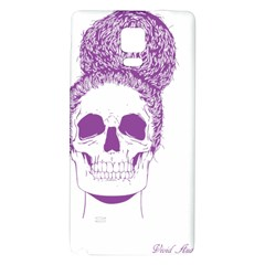 Purple Skull Bun Up Samsung Note 4 Hardshell Back Case