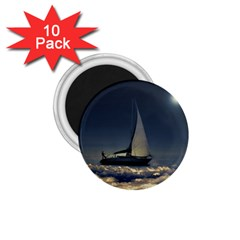 Navigating Trough Clouds Dreamy Collage Photography 1 75  Button Magnet (10 Pack)