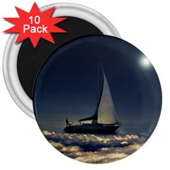 Navigating Trough Clouds Dreamy Collage Photography 3  Button Magnet (10 Pack)