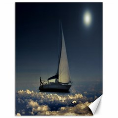Navigating Trough Clouds Dreamy Collage Photography Canvas 12  X 16  (unframed)