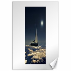Navigating Trough Clouds Dreamy Collage Photography Canvas 24  x 36  (Unframed)
