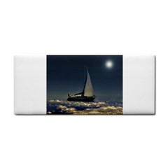 Navigating Trough Clouds Dreamy Collage Photography Hand Towel