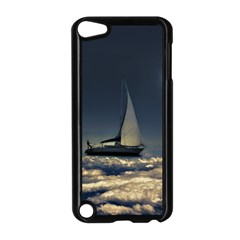 Navigating Trough Clouds Dreamy Collage Photography Apple iPod Touch 5 Case (Black)