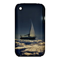 Navigating Trough Clouds Dreamy Collage Photography Apple iPhone 3G/3GS Hardshell Case (PC+Silicone)