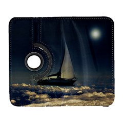 Navigating Trough Clouds Dreamy Collage Photography Samsung Galaxy S  III Flip 360 Case