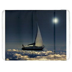Navigating Trough Clouds Dreamy Collage Photography Samsung Galaxy Tab 7  P1000 Flip Case