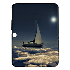 Navigating Trough Clouds Dreamy Collage Photography Samsung Galaxy Tab 3 (10.1 ) P5200 Hardshell Case