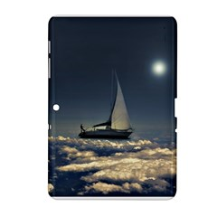 Navigating Trough Clouds Dreamy Collage Photography Samsung Galaxy Tab 2 (10 1 ) P5100 Hardshell Case