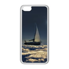 Navigating Trough Clouds Dreamy Collage Photography Apple Iphone 5c Seamless Case (white)