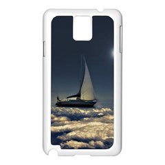 Navigating Trough Clouds Dreamy Collage Photography Samsung Galaxy Note 3 N9005 Case (white)