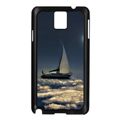 Navigating Trough Clouds Dreamy Collage Photography Samsung Galaxy Note 3 N9005 Case (Black)