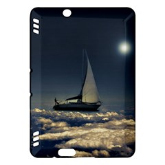 Navigating Trough Clouds Dreamy Collage Photography Kindle Fire HDX Hardshell Case