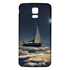 Navigating Trough Clouds Dreamy Collage Photography Samsung Galaxy S5 Back Case (White)
