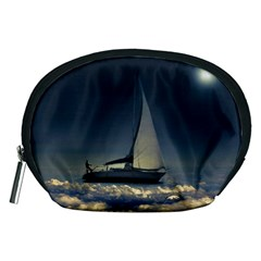 Navigating Trough Clouds Dreamy Collage Photography Accessory Pouch (Medium)