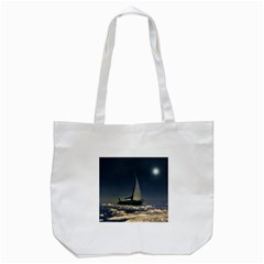 Navigating Trough Clouds Dreamy Collage Photography Tote Bag (white)