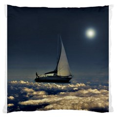 Navigating Trough Clouds Dreamy Collage Photography Standard Flano Cushion Case (Two Sides)