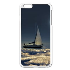 Navigating Trough Clouds Dreamy Collage Photography Apple Iphone 6 Plus Enamel White Case
