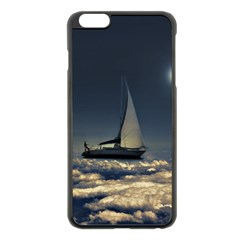 Navigating Trough Clouds Dreamy Collage Photography Apple iPhone 6 Plus Black Enamel Case