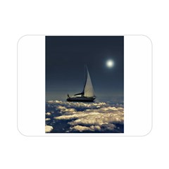 Navigating Trough Clouds Dreamy Collage Photography Double Sided Flano Blanket (Mini)
