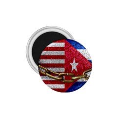 United States And Cuba Flags United Design 1 75  Button Magnet