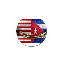 United States And Cuba Flags United Design Golf Ball Marker 4 Pack