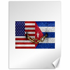 United States And Cuba Flags United Design Canvas 18  X 24  (unframed)