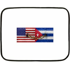 United States And Cuba Flags United Design Mini Fleece Blanket (two Sided)