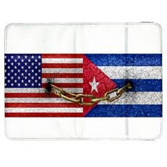 United States and Cuba Flags United Design Samsung Galaxy Tab 7  P1000 Flip Case
