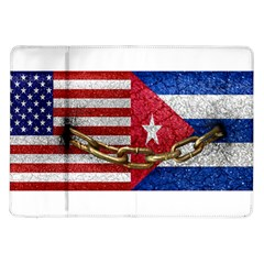 United States and Cuba Flags United Design Samsung Galaxy Tab 10.1  P7500 Flip Case
