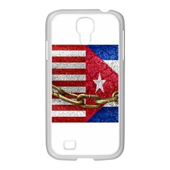 United States And Cuba Flags United Design Samsung Galaxy S4 I9500/ I9505 Case (white)
