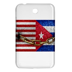 United States And Cuba Flags United Design Samsung Galaxy Tab 3 (7 ) P3200 Hardshell Case