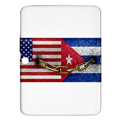 United States And Cuba Flags United Design Samsung Galaxy Tab 3 (10 1 ) P5200 Hardshell Case