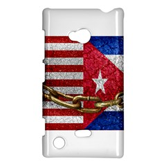 United States And Cuba Flags United Design Nokia Lumia 720 Hardshell Case