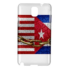 United States and Cuba Flags United Design Samsung Galaxy Note 3 N9005 Hardshell Case