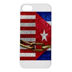 United States and Cuba Flags United Design Apple iPhone 5S Hardshell Case