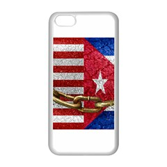 United States And Cuba Flags United Design Apple Iphone 5c Seamless Case (white)