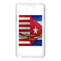 United States and Cuba Flags United Design Samsung Galaxy Note 3 N9005 Case (White)