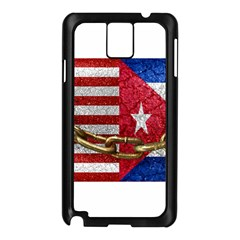 United States and Cuba Flags United Design Samsung Galaxy Note 3 N9005 Case (Black)