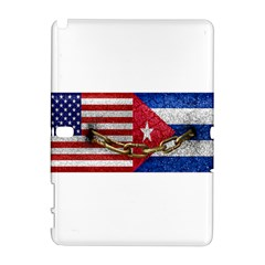 United States and Cuba Flags United Design Samsung Galaxy Note 10.1 (P600) Hardshell Case
