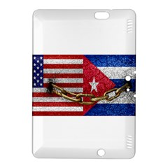 United States And Cuba Flags United Design Kindle Fire Hdx 8 9  Hardshell Case