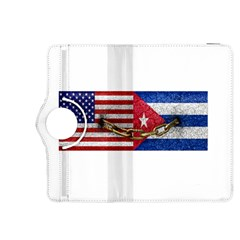 United States and Cuba Flags United Design Kindle Fire HDX 8.9  Flip 360 Case