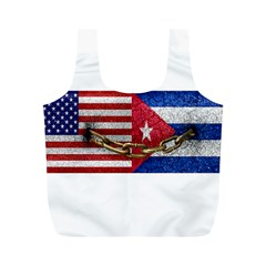 United States and Cuba Flags United Design Reusable Bag (M)