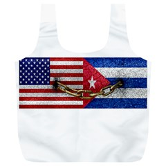 United States and Cuba Flags United Design Reusable Bag (XL)