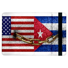 United States and Cuba Flags United Design Apple iPad Air Flip Case