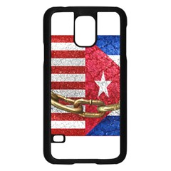 United States and Cuba Flags United Design Samsung Galaxy S5 Case (Black)