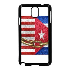 United States and Cuba Flags United Design Samsung Galaxy Note 3 Neo Hardshell Case (Black)