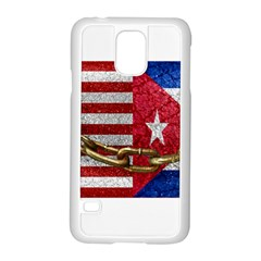 United States and Cuba Flags United Design Samsung Galaxy S5 Case (White)