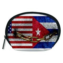 United States and Cuba Flags United Design Accessory Pouch (Medium)