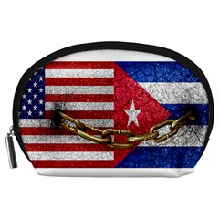 United States and Cuba Flags United Design Accessory Pouch (Large)